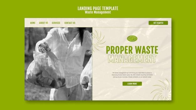 Szablon projektu strony docelowej zarządzania odpadami