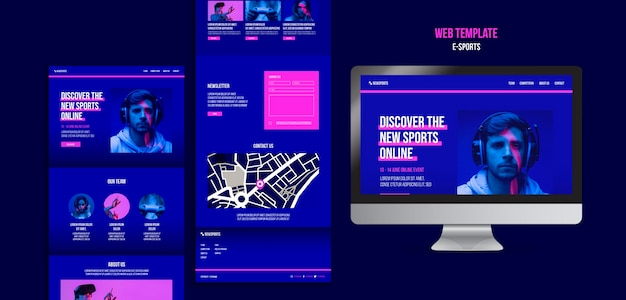 Szablon Projektu Strony Internetowej E-sport Darmowe Psd