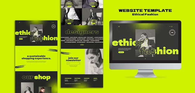 Szablon projektu strony internetowej o modzie etycznej