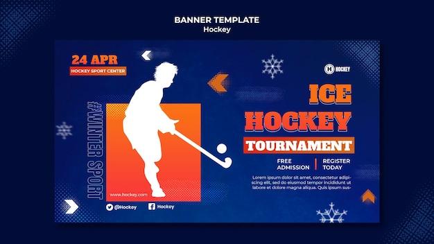 Szablon projektu transparentu hokejowego