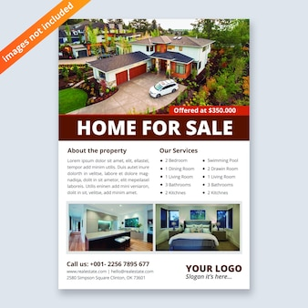 Szablon projektu ulotki biznes nieruchomości