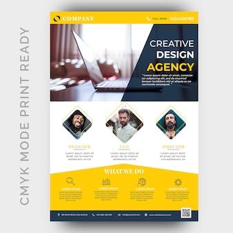 Szablon projektu ulotki biznesu nowoczesnej agencji creative