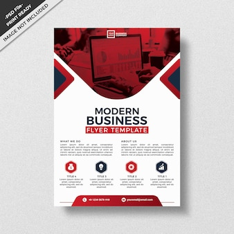 Szablon projektu ulotki czerwony nowoczesny styl biznes