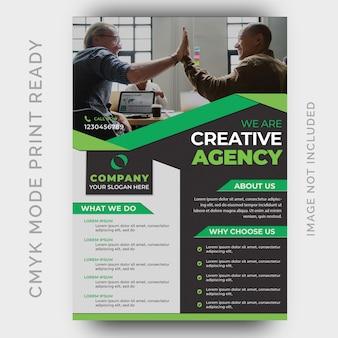 Szablon projektu ulotki nowoczesnej agencji kreatywnej
