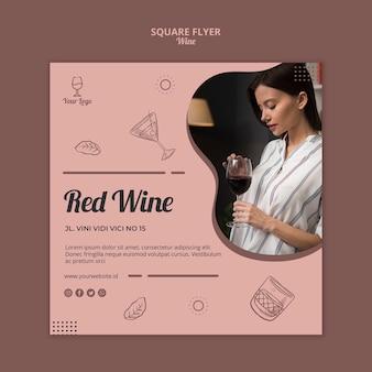 Szablon projektu wina ulotki