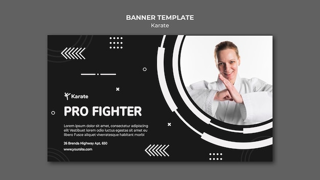 Szablon promocyjny klasy banner karate