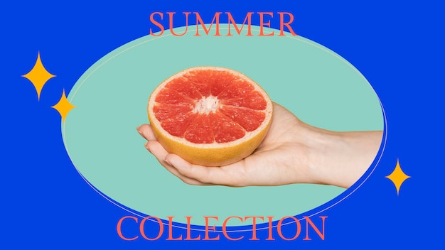 Szablon psd blog modowy na lato