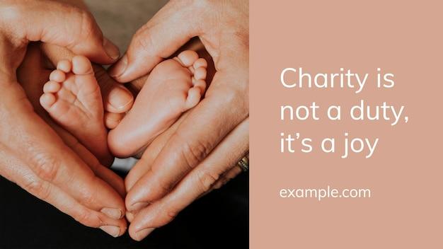 Szablon psd darowizny na cele charytatywne dla dzieci do prezentacji