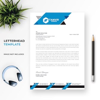 Szablon psd kreatywny nowoczesny papier firmowy