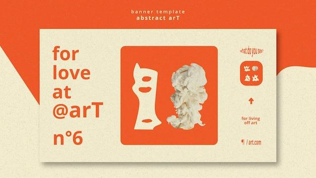 Szablon reklamy abstrakcyjnej sztuki banera