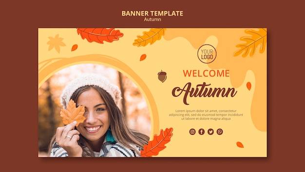 Szablon reklamy baner jesień