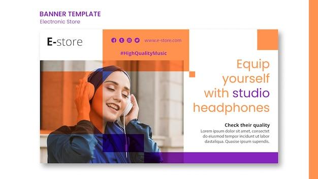 Szablon reklamy banera elektronicznego sklepu