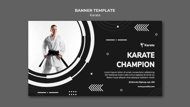 Szablon reklamy banerowej klasy karate