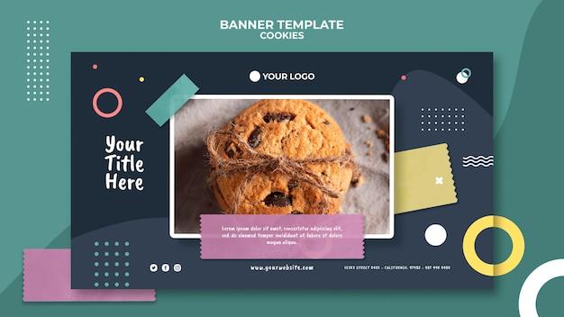 Szablon reklamy banerowej sklepu z ciasteczkami