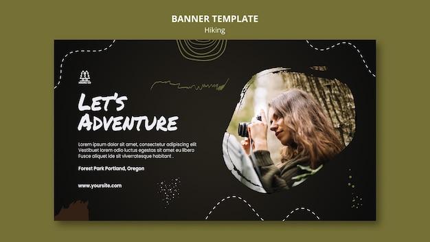 Szablon reklamy baneru turystycznego