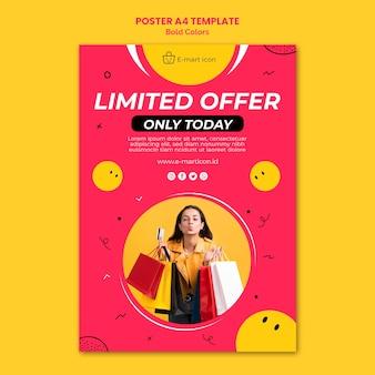 Szablon reklamy sprzedaży plakatu
