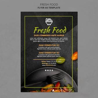 Szablon reklamy świeżej żywności ulotki