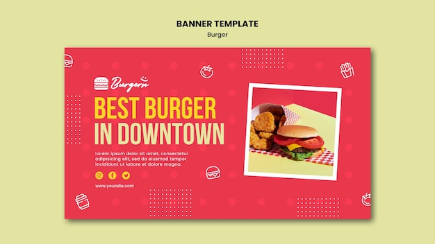Szablon restauracji burger banner
