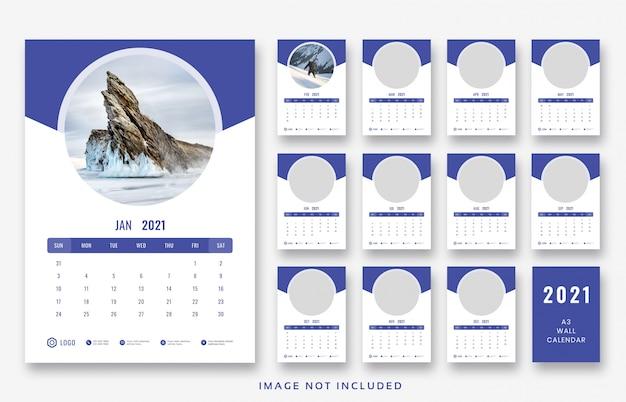 Szablon ścienny kalendarz 2021