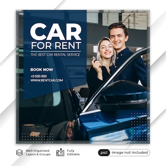 Szablon serwisu wypożyczalni samochodów post feed feed