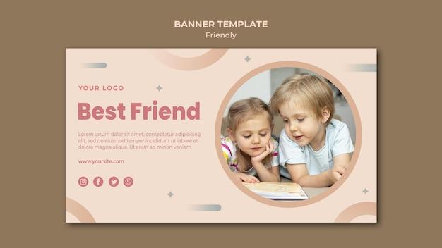 Szablon sieci web banner najlepszego przyjaciela