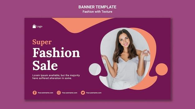 Szablon sieci web banner sprzedaży mody