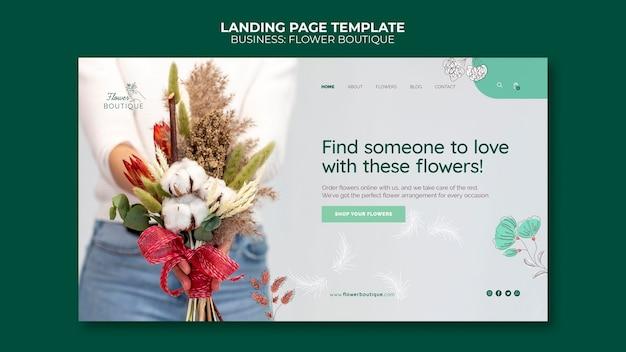 Szablon sieci web butiku kwiat