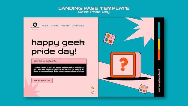 Szablon sieci web dzień dumy maniaków