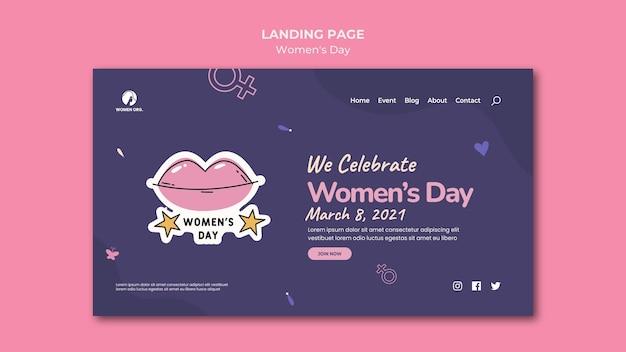 Szablon sieci web dzień kobiet