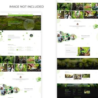 Szablon sieci web ekologia