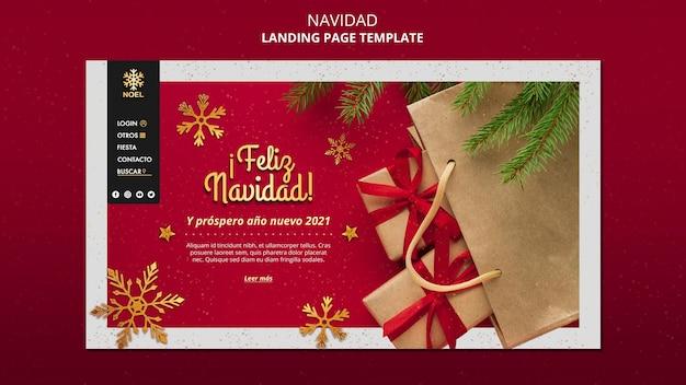 Szablon sieci web feliz navidad