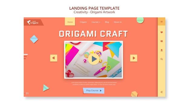 Szablon sieci web kompozycji origami