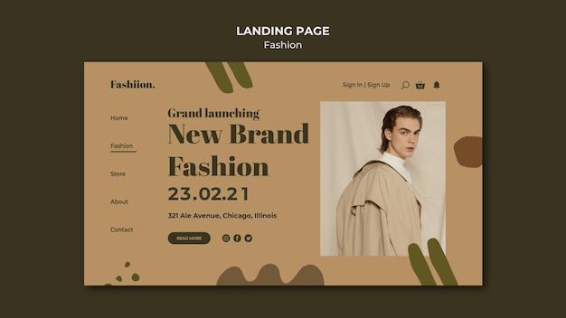 Szablon sieci web koncepcja moda