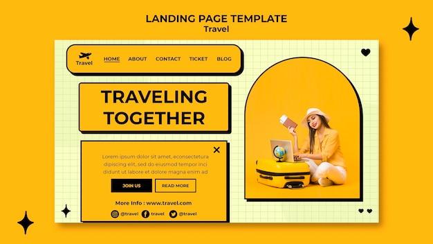 Szablon sieci web koncepcja podróży