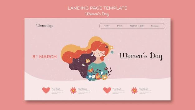 Szablon sieci web międzynarodowego dnia kobiet