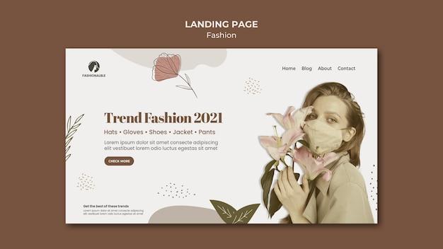 Szablon sieci web moda ze zdjęciem
