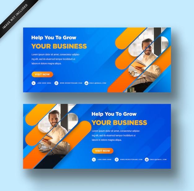 Szablon sieci web nowoczesny transparent z gradientem dla biznesu