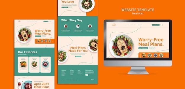 Szablon sieci web planów posiłków