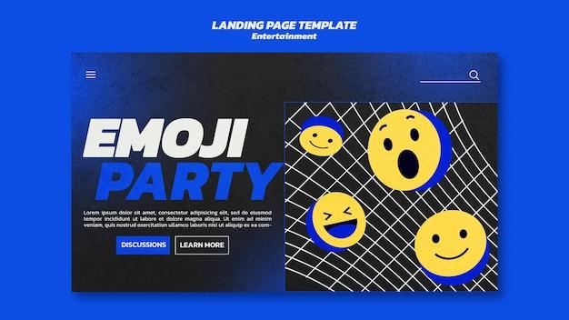 Szablon sieci web rozrywki emoji