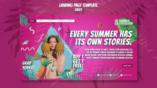 Szablon sieci web sprzedaży lato