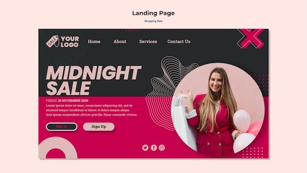 Szablon sieci web sprzedaży zakupów