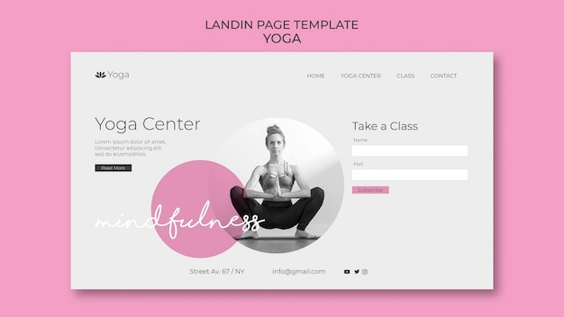 Szablon sieci web strony docelowej jogi
