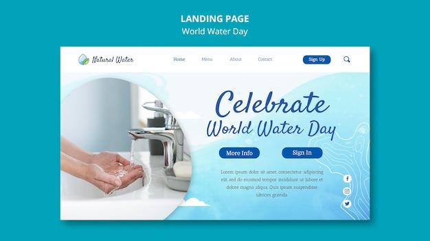 Szablon sieci web światowego dnia wody