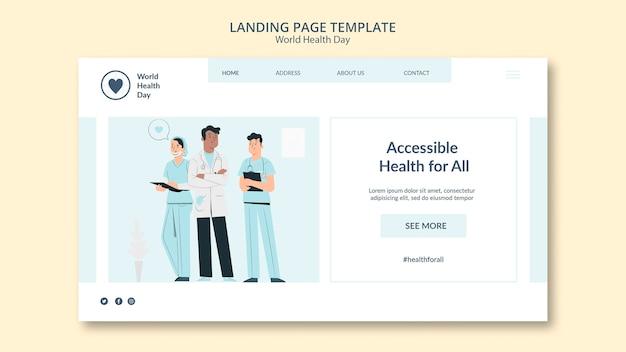 Szablon sieci web światowego dnia zdrowia