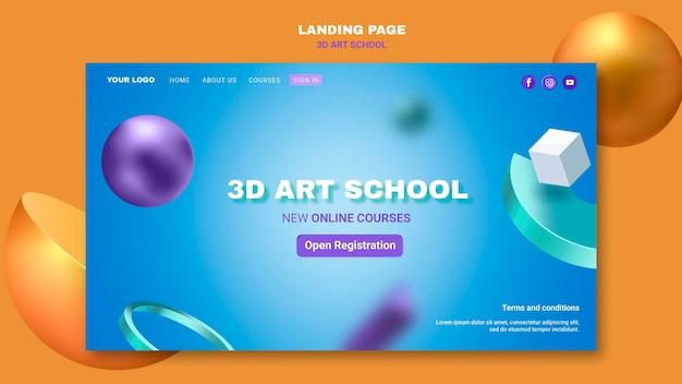 Szablon sieci web szkoły artystycznej