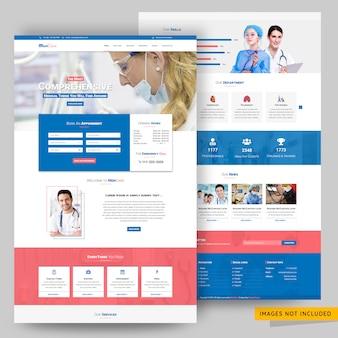 Szablon sieci web szpital i apteka