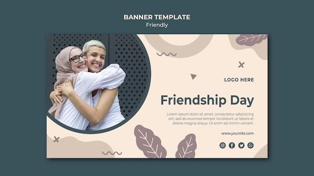 Szablon sieci web transparent dzień przyjaźni