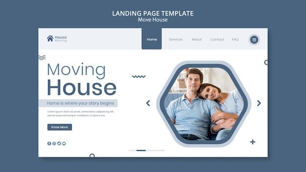 Szablon sieci web usługi przeprowadzki domu