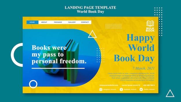 Szablon sieci web wydarzenia światowego dnia książki