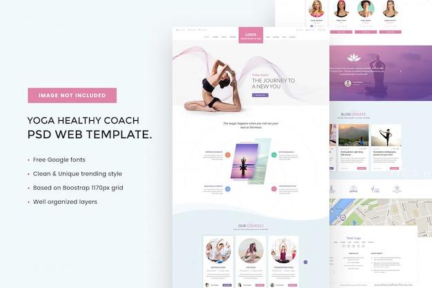 Szablon sieci web zdrowy trener jogi
